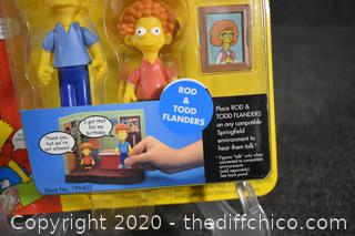 NIB The Simpsons Rod and Todd Flanders