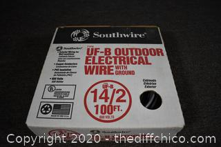 100ft 14/2 Electrical Wire w/ground