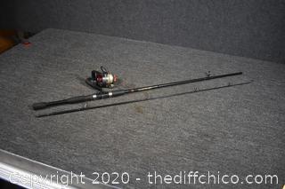 72in long Fishing Pole w/reel