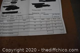 NIB Blinds-see picture for measurements