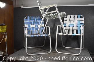 3 Folding Lawn Chairs