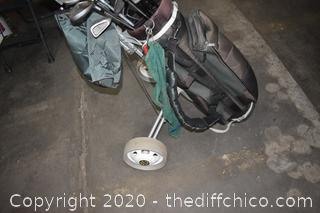 Golf Cart plus Clubs