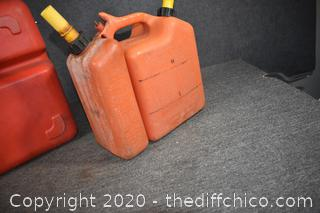2 Plastic Gas Containers