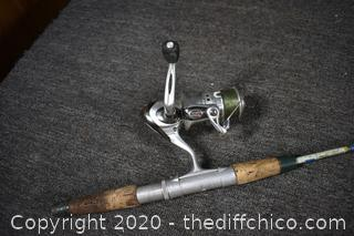 65in long Fishing Rod and Reel