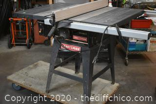 Working Craftsman 10in Table Saw