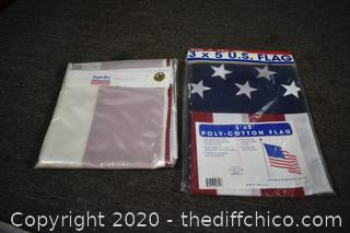 CA and USA 3ft x 5ft Flags