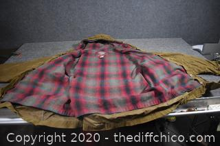 Jacket w/flannel inside and hood size M