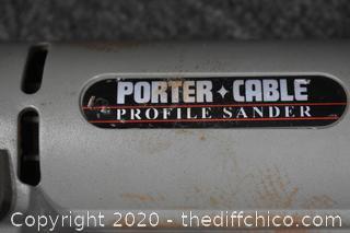 Working Porta Cable Profile Sander