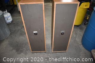 pair of Pioneer Speakers