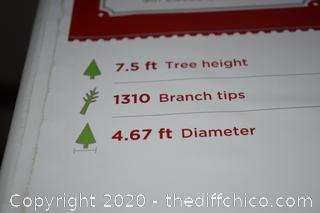 7.5ft no lights Christmas Tree