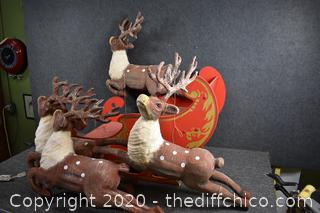4 Reindeer and Sled