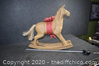 Paper Mache Rocking Horse