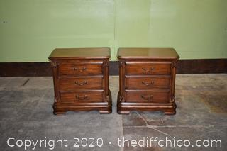 Pair of Night Stands w/3 Drawers