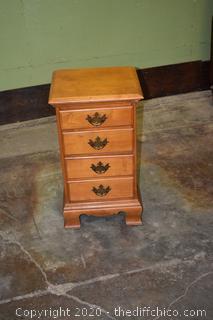 4 Drawer Maple Night Stand