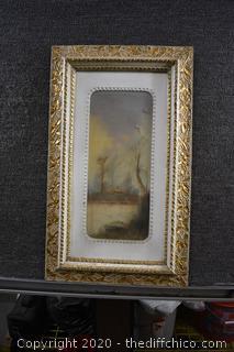 Framed Original Pastel-damaged canvas-see pictures
