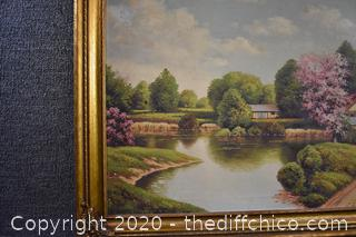 Original Signed Oil Painting by Lample
