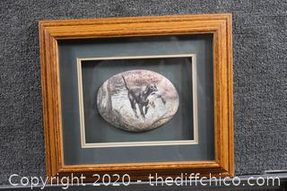 Framed Painted Rock