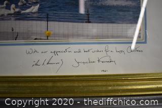 Framed Signed Presidential Document