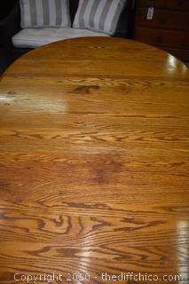 Oak Table w/leaf