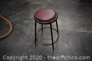 Stool - 14in dia x 26 1/2in tall