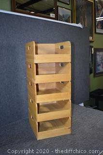 5 Stackable Organizer Boxes
