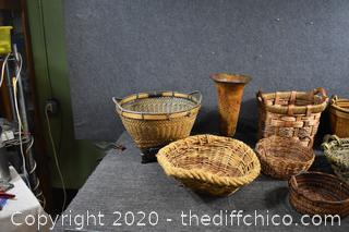 Large Assortment of Unique Baskets