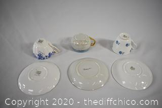 3 Cup and Saucer Sets-6 pieces