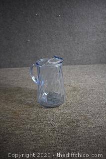 Blue Glass Pitcher