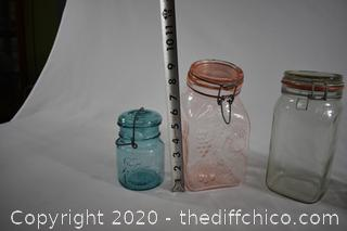 5 Glass Containers