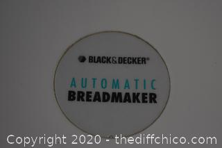 Working Black and Decker Bread Maker