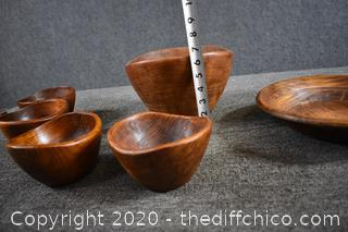 6 Wood Bowls