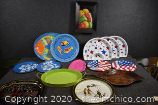Party Serving Platters and More