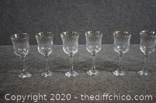 6 Pieces of Crystal Glasses