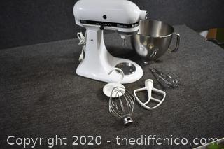 Kitchen Aid Working Mixer plus Attachments
