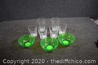 Plastic Bowls and Glasses
