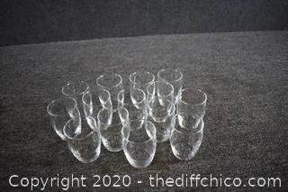 14 Juice Glasses