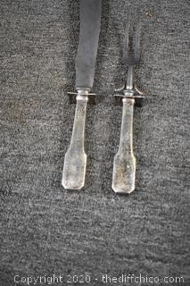 Carving Set w/Sterling Silver Handles