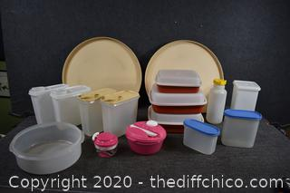 Tupperware, Rubbermaid, Storage Canisters and More