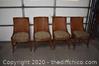 4 Rattan Palecek Chairs
