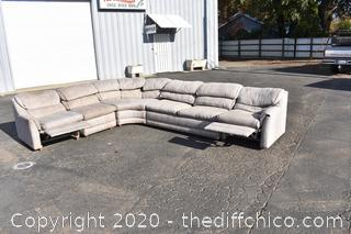 5 Piece Sectional - 2 Recliner Section plus Bed