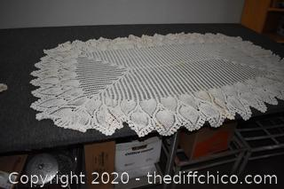 Hand Made Table Cloth - 72in x 47in