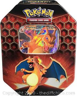 RARE Pokemon TCG Hidden Fates Charizard Tin Factory Sealed