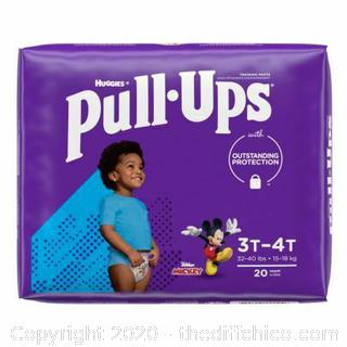 Huggies Pull-Ups Size 3T-4T 32-40 Pounds Boy 20 Count Mickey Design - NEW