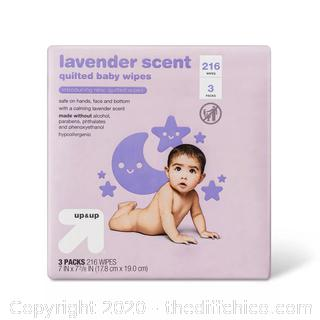 Lavender Scent Baby Wipes 216ct