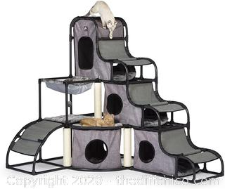 ($227) Prevue Pet Products Prevue Pet Products Catville Tower Gray 7240, Gray