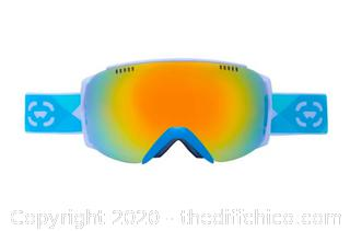 Winterial Frameless Ski & Snowboard Goggles with Case - Teal (J14)