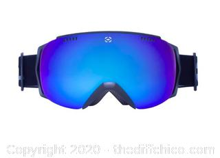 Winterial Frameless Ski & Snowboard Goggles with Case - Black (J16)