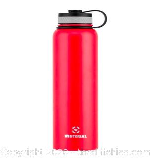 Winterial 40oz Stainless Steel Water Bottle - Red (J19)