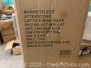 Atterstone Rustic Wine Rack (J79)