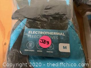 Winterial Battery Powered Heated Snow Gloves - Blue Medium (J83)
